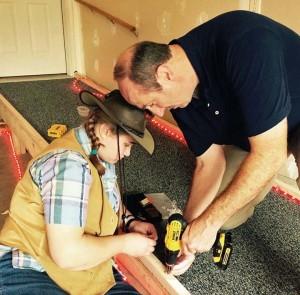 3 - Rachel Helping Tim Build Ramp