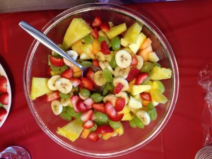Birthday Meal for Dad - Fruit Salad