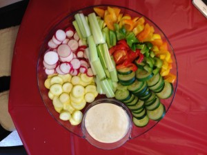Birthday Meal for Dad - Veggie Tray 2