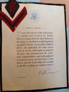 Dad - Letter from Harry Truman