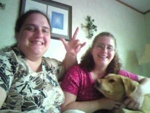 Kim and Kellie with Cinnamon